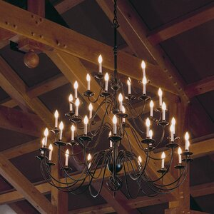 36-Light Candle-Style Chandelier