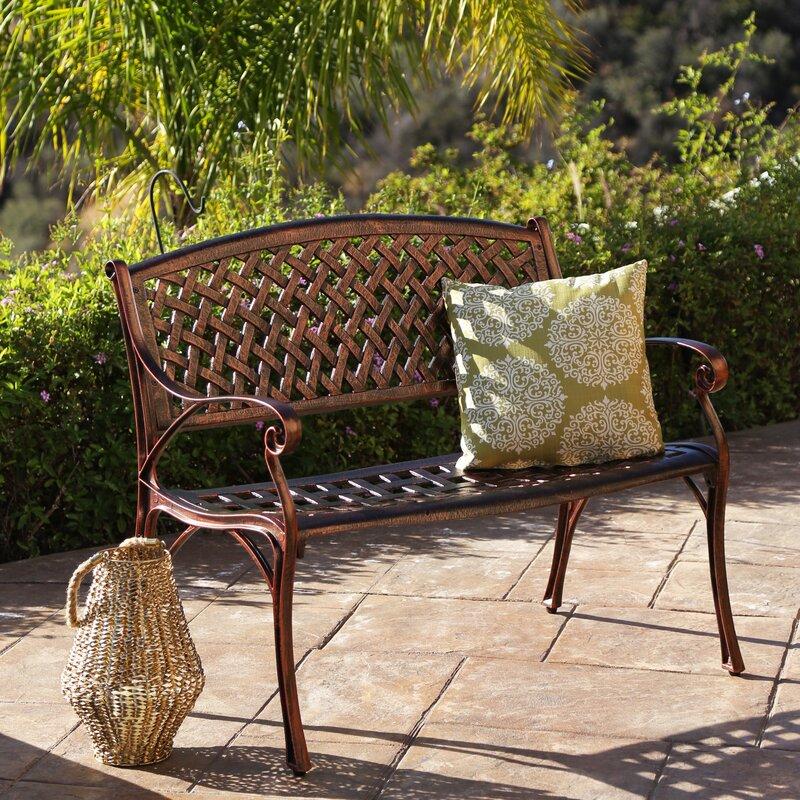 Merveilleux Bogard Cast Aluminum Garden Bench