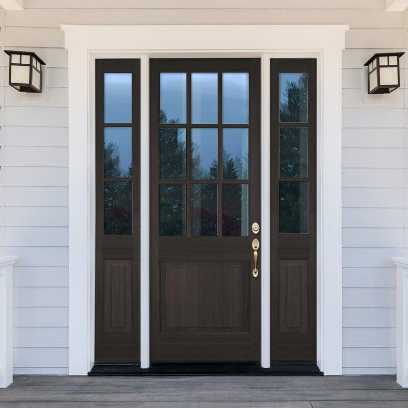 Uberdoors Douglas Fir Wood Prehung Front Entry Door Wayfair