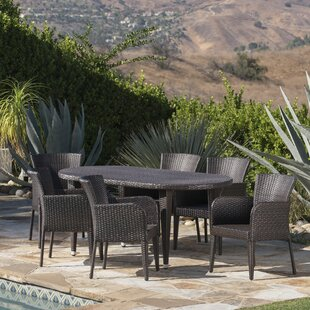 Latitude Run Molter Outdoor 7 Piece Dining Set
