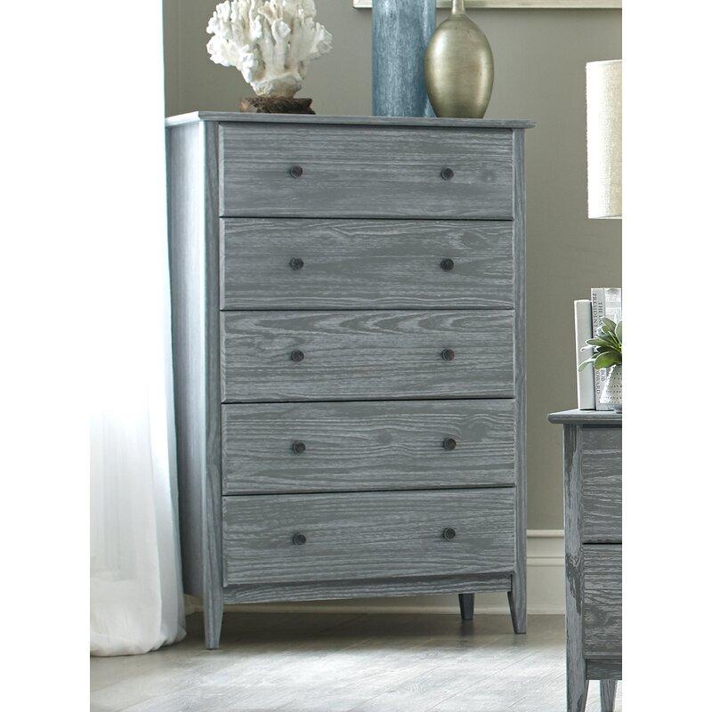 Grain Wood Furniture Greenport 5 Drawer Chest Reviews Wayfair