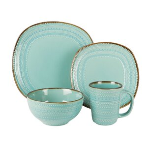 freetown 16 piece dinnerware set service for 4 - Dishware Sets