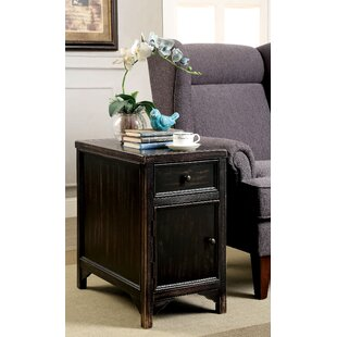 Swanscombe End Table with Storage by World Menagerie
