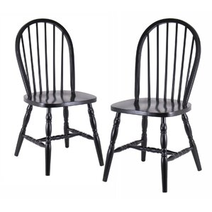 Black Wood Dining Chair windsor chairs you'll love | wayfair