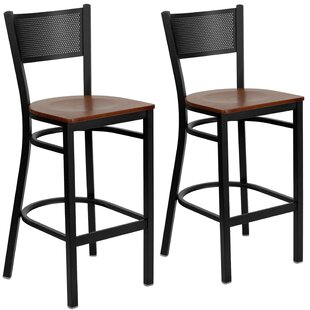 Chafin 28 Swivel Bar Stool (Set of 2) Winston Porter