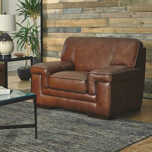 Grand Isle Leather Upholstered Armchair by T..