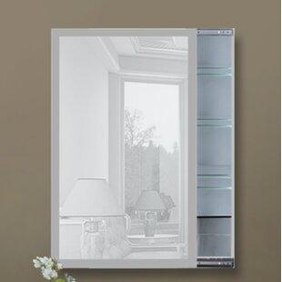 Affordable Rigg Frosted Glass Border 18 x 30 Surface Mount Medicine Cabinet ByOrren Ellis