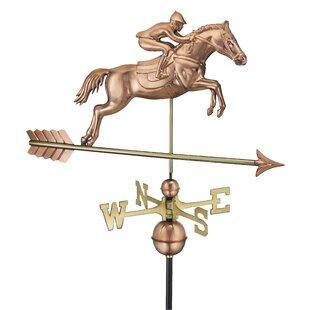 Broomsedge Jumping Horse Weathervane Image