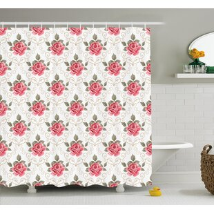 Charise Romantic Shabby Elegance Flowers Nature Single Shower Curtain