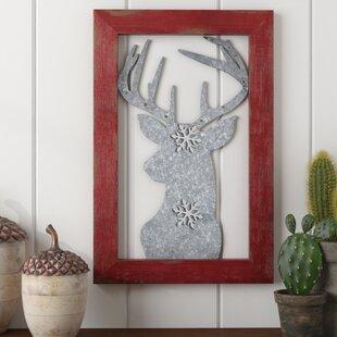 Reindeer Magnetic Metal Wall D?cor by Loon Peak