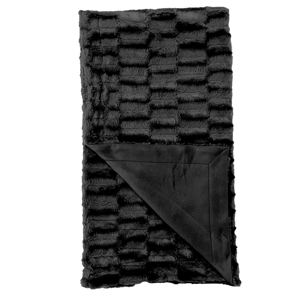 Black Faux Fur Blankets Throws Free Shipping Over 35 Wayfair