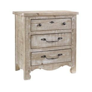 Jeffery 3 Drawer Nightstand
