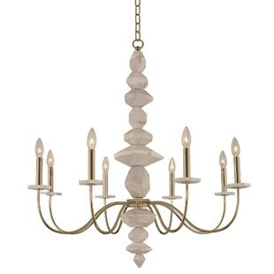 Carrara 8-Light Chandelier by Kalco