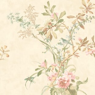 Review New Neutrals 33' x 20.5 Wild Flowers Roll Wallpaper by York Wallcoverings
