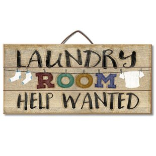 Laundry Room Help Pallet Wood Sign Wall Décor