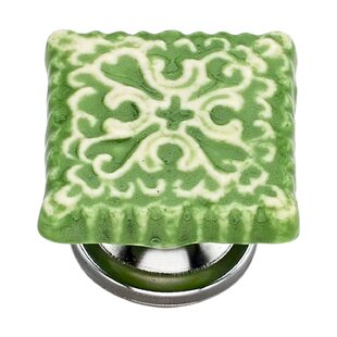 Handpainted Tile Square Knob (Set of 8)