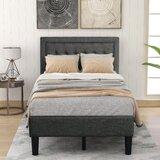 Prier Tufted Upholstered Low Profile Platform Bed by Red Barrel Studio®