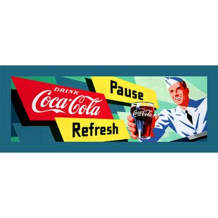 Coca-Cola Waiter Stretched Vintage Advertisement on Canvas by Trademark Fine Art