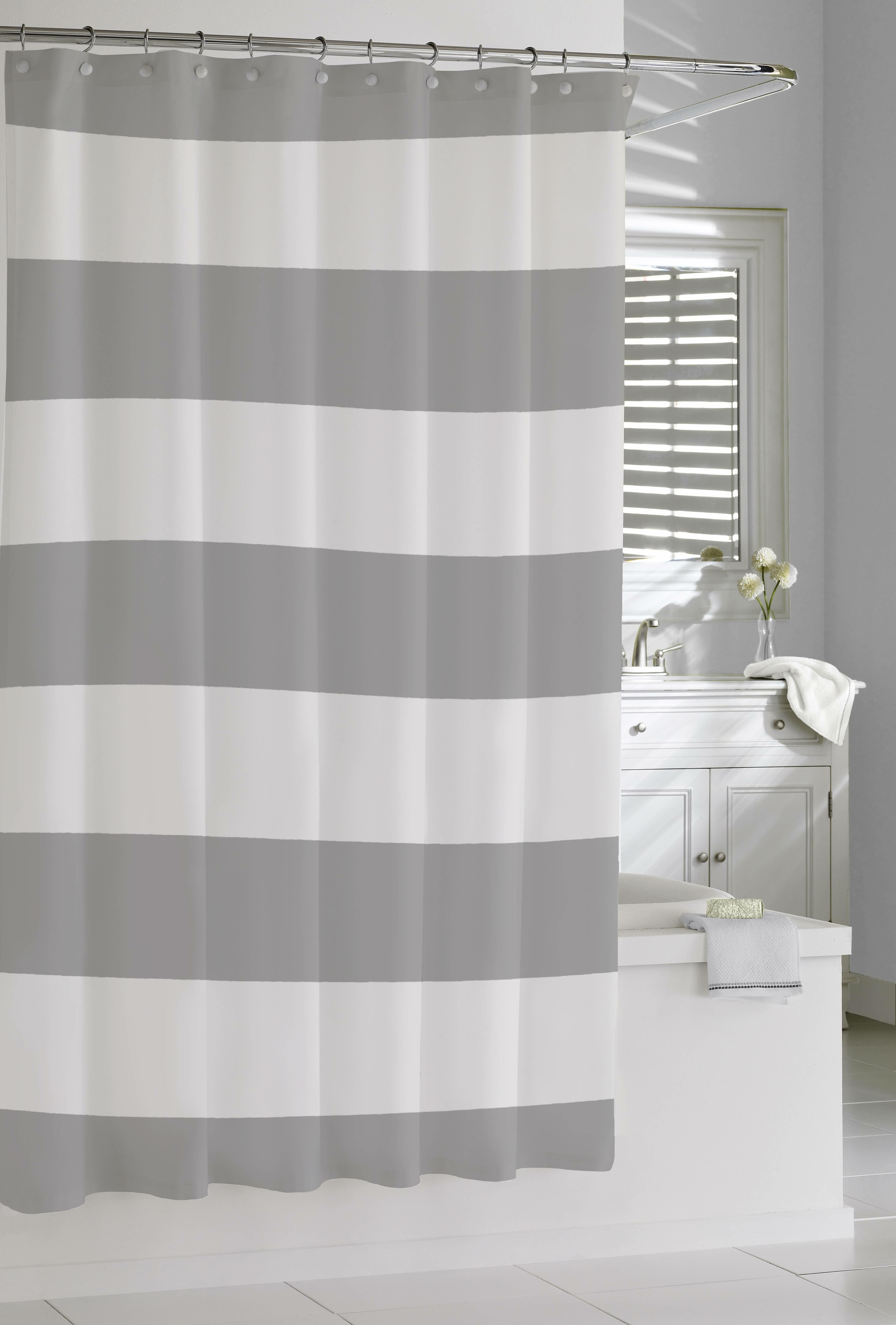 Prospero Stripes Cotton Shower Curtain Single Hooks