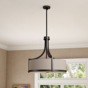 Three Posts Bullen 4-Light Drum Chandelier