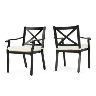 Lourdes Patio Dining Chair with Cushion
