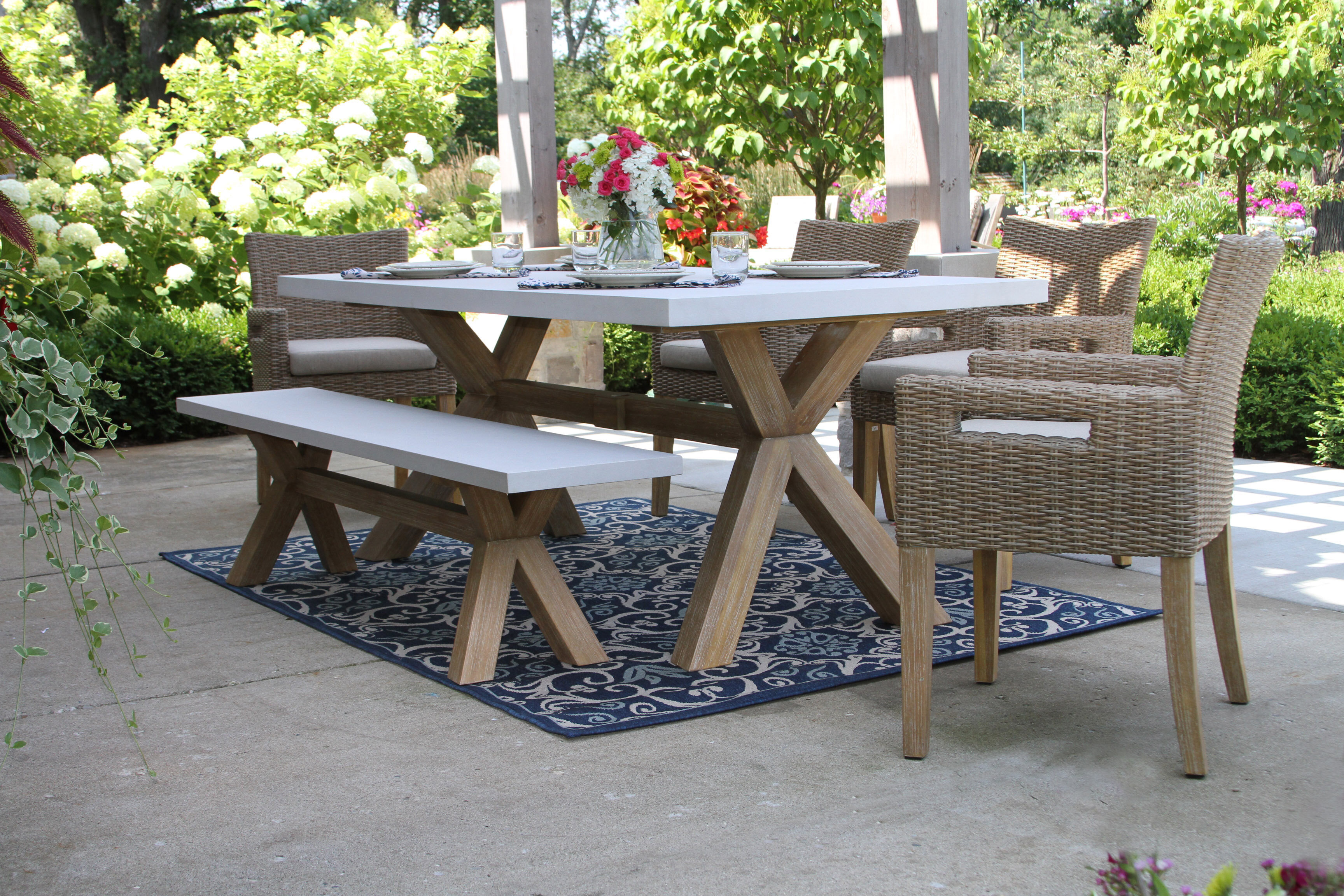 Stone Wicker Rattan Patio Dining Sets You Ll Love In 2021 Wayfair