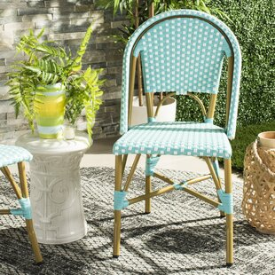 Rebeca Indoor-Outdoor French Stacking Patio Dining Chair (Set of 2)