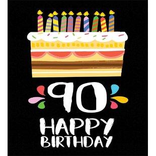 90th Birthday Decorations Duvet Cover Set
