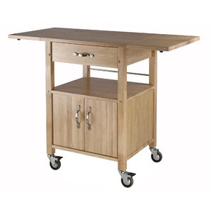 Anthem Kitchen Cart with Wooden Top by Re..