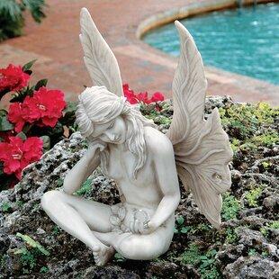 Gazing Fairy Garden Statue. By Design Toscano