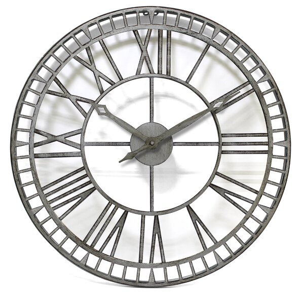 Large Silver Clock