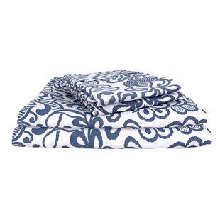 Jerkins Vintage Exclusive Designer 400 Thread Count Glam 100% Cotton Sheet Set (Set of 4)
