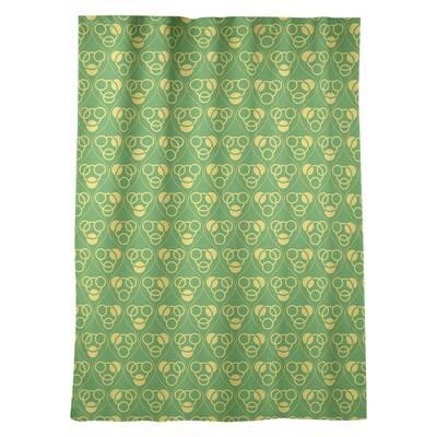 East Urban Home Nandita Singh Squares Pattern Geometric Sheer Rod Pocket Curtain Panels Wayfair