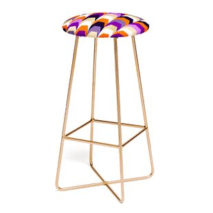 East Urban Home Elisabeth Fredriksson Stacks of Purple and Orange 30