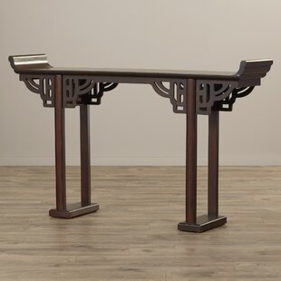 World Menagerie Arbaaz Kale Solid Wood Console Table