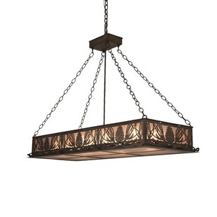 Meyda Tiffany Mountain Pine 6-Light Square/Rectangle Chandelier