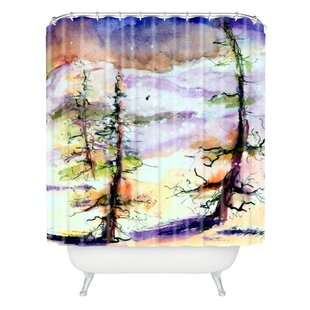 Winter Trees Single Shower Curtain