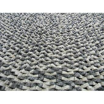 Modern Rugs Cobblestone Coal Silver Area Rug Wayfair