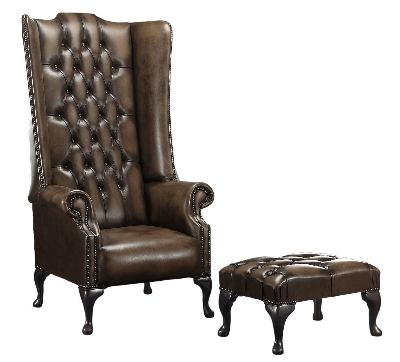 Rosalind Wheeler Barlet High Back Wing Chesterfield Chair And