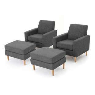 Arm Chair Ottoman Set | Wayfair