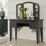 Bunbury Vanity with Mirror by Charlton Home®