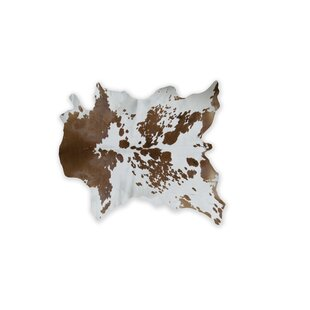 Reviews Haney Hand-Woven Cowhide Brown/White Area Rug By Bloomsbury Market