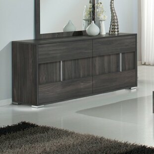 Wade Logan Chidley 6 Drawer Double Dresser with Mirror
