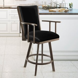 Lesko Bar & Counter Swivel Stool by Red Barrel Studio