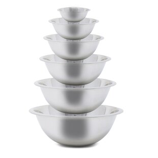 Burse Kitchen 6 Piece Stainless Steel Mixing Bowl Set By Symple Stuff