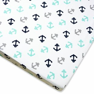 Great Price Anchor Fitted Crib Sheet ByWendy Bellissimo