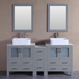 Essie 71 Double Bathroom Vanity Set with Mirror by Bosconi