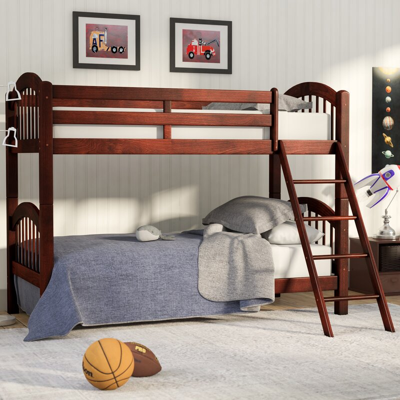 Andover Mills Baby & Kids Cassidy Arched Twin Over Twin Bunk Bed
