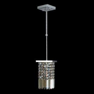 Orren Ellis KeAndre 1-Light Crystal-Pendant