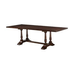Enprise Wooden Trestle Base Extendable Dining Table